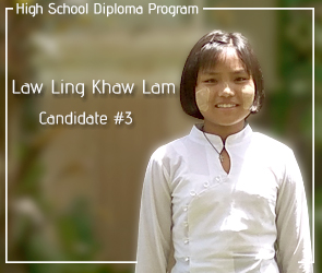 Candidate: #3 Law Ling Khaw Lam