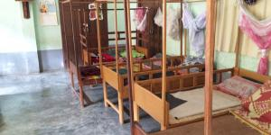 Sleeping place for orphans child