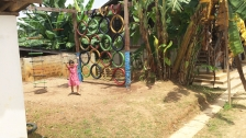 Play in the mini playground